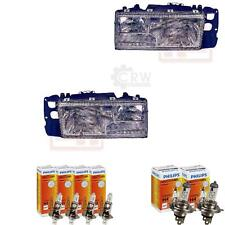 Headlight Set Volvo 940960 Year 1089 0994 H1h1h4 Incl Philips Lamps