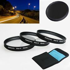 RISE(UK) 52mm 4 6 8 Point Line 4X 6X 8X Star Filter Kit for canon nikon sony