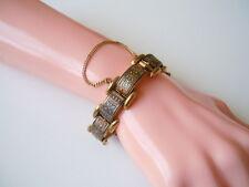 Schönes Toledo Armband mit Sicherheitskette 40 g / 19,5 cm / Breite:1,5 cm
