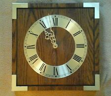 Wooden Wall Clock W/Gold Trim