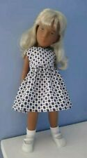 BJB Vintage Sasha doll clothes, Pretty retro print blue and white dotty dress