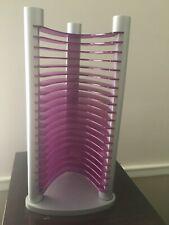 "Purple plastic CD Rack Tower Jewel case. Match your decor. Approx. length: 14"""