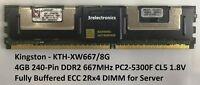 Kingston KTH-XW667/8G 4GB 240-PIN DDR2 667MHz PC2-5300F ECC FB-DIMM FOR SERVER