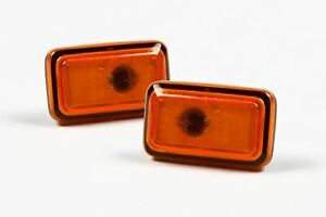 Hella Porsche 911 993 93-97 Orange Side Indicators Repeaters Set Pair Left Right
