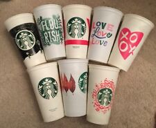 Lot Of 8 Different Starbucks Reusable Plastic To Go Cups With No Lids