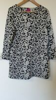 Joules Floral Tunic Dress Embossed Style Size 12