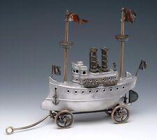 """Steam Yacht Ship Handmade Cast Bronze & Aluminum Metal Nelles 15""""L New"""