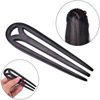 1Pc Carved Black Wooden Sandalwood Hair Pin Stick Original Retro Women LadyNTJ!e