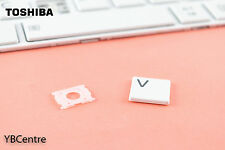 Replacement Single Key Toshiba Satellite C50 C55 C70 White cap + clip +rubber