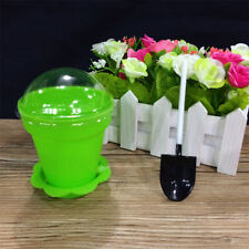 10 PCS Cups with Lid Spoons Flower Potted Shape for Jelly Cake Yogurt Mousse