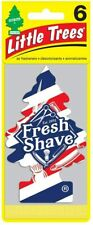 Little Trees Hanging Car and Home Air Freshener, Fresh Shave Pack of 6