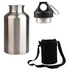 2L Stainless Steel Water Drink Bottle WITH Bottle Pouch Cycling Sports Outdoor