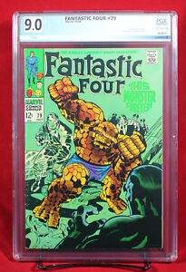 FANTASTIC FOUR #79 (Marvel 1968) PGX 9.0 VF/NM Very Fine/Near Mint - HTF!!!