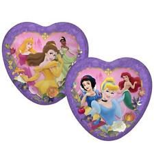 Disney Princess Dreams Birthday Party Heart Shaped Lunch Dinner Plates 8 per Pkg