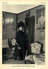 Agnes Sorma nella loro gardeobe nel di Berlino piccolo teatro c.1907