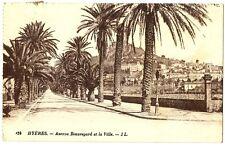 CPA 83 Var Hyères Avenue Beauregard et la Ville