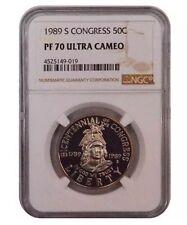 Clean 1989 S NGC PF70 Clad Bicentennial OF The Congress 50C Half Dollar Coin