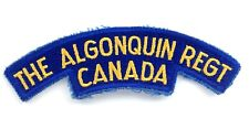The Algonquin Regiment Canada Arm Iron Sew On Patch Badge Crest K518