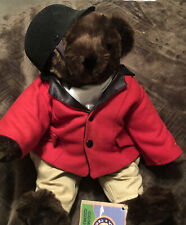 "Fox Huntmaster Stuffed Plush Vermont ""drk. Chocolate""Teddy Bear Equestrian Theme"