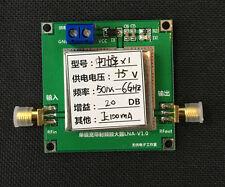 50M - 6GHz 20dB wideband RF amplifier LNA 1-6G 20DB gain amplifiers HF VHF / UHF