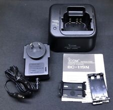 ICOM BC-119N Desktop Charger With AD-101 And 240V Power Supply