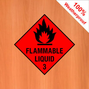 Flammable liquid 3 sign sticker DANG001 Warning and hazard notices