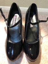 Funtasma Womens Mary Jane Black Patent Platform Cosplay Costume Heels Size 10.5