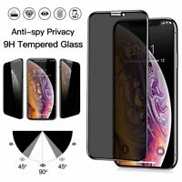 For iPhone 11 Pro X XS Max XR XS  Privacy Tempered Glass Screen Protector Film