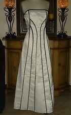NEW Low Price Jessica McClintock Black & White Formal Wedding Dress Strapless 8P