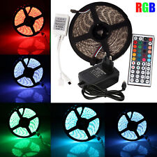 5M RGB 3528 SMD Flexible 300 Led Strip Lights / 44 Key IR / 12V 2A Power Supply