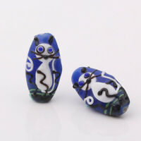 10pcs handmade Lampwork glass Beads lovely blue cat 10*15*28mm