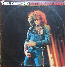 NEIL DIAMOND HOT AUGUST NIGHT 2XLPs US MCA 2 8000 Gatefold 1972