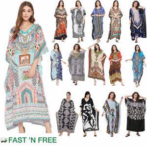 Kaftan Dress Caftan Beach Cover Boho Gown Hippie Beach Women Plus Size Tunic Top