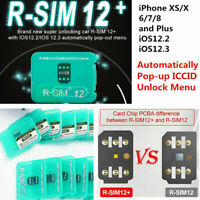 RSIM 12+2019 R-SIM Nano Unlock Card fits iPhone X/8/7/6/6s/5/4G iOS 12 11