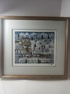 Winter Fun California Artist M.A. Rugh Ann Baker Mrs. B Print  55/950 1985
