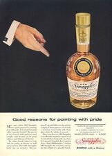 1957 Old Smuggler Vintage Scotch Whisky Bottle  PRINT AD
