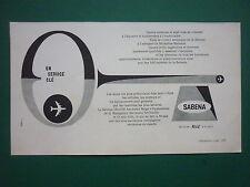 3/1962 PUB SABENA AIRLINES CITE TECHNIQUE AEROPORT BRUXELLES KEY CLE FRENCH AD