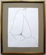 Fine Art Original Nude Drawing by Sheila Solomon Female Relief
