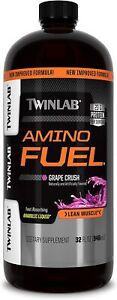 Twinlab AMINO FUEL 32 fl oz Liquid Aminos GRAPE BUILD MUSCLE *FREE Shipping*