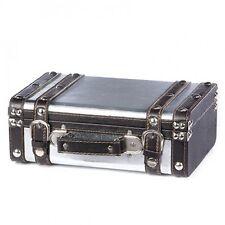 Decorative Retro Aluminum Clad Travel Suitcase - Storage Trunk