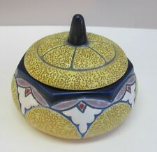Fine Signed AMPHORA ART NOUVEAU Powder Box  c. 1920  antique pottery