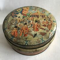 Vintage 6 MB Container Round Biscuit Storage Tin Coronation Carriage Queen