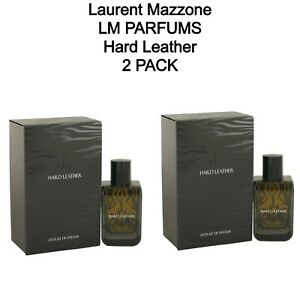 2 PACK - Laurent Mazzone LM Parfums Hard Leather 100 ml. / 3.4 fl oz. Spray
