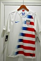 Nike 2018 USA Stadium Home Soccer Jersey 893902-100 White Authentic Men's Small