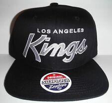 Los Angeles KINGS Script Black NHL Retro Vintage Snapback Cap Hat By Zephyr