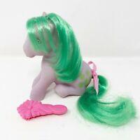 Vintage 1983 Hasbro My Little Pony G1 Seashell with Brush & Ribbon