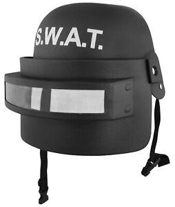 Adult Child Police SWAT Team Helmet Folding Face Mask Combat Tactical Costume