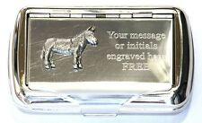 Donkey Mule Tobacco Roll Up Cigarette Tobacco Tin Working Farm Yard Animal Gift