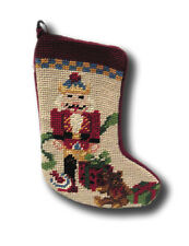 NutCracker Stocking Needlepoint Patchwork Christmas Xmas Holiday Seasonal Sk922S