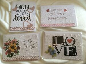 4 Handmade Cards + Envelopes Love Sweetheart Happily Ever After Lovers USA Made